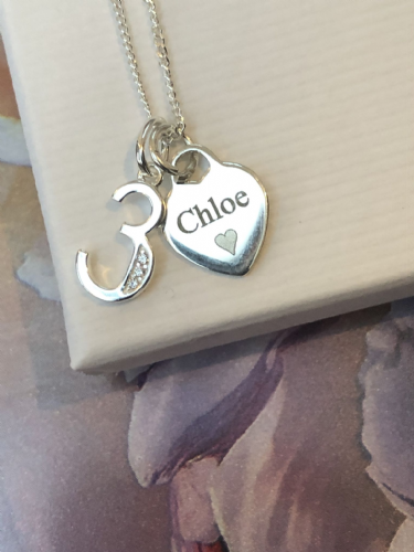 3rd birthday jewellery gift  - FREE ENGRAVING